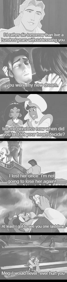 i guess the men in these fictional movies are where all my standard come from    disney quotes