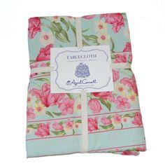 April Cornell Spring Green Floral 100% Cotton Tablecloth Napkins NEW NWT #AprilCornell