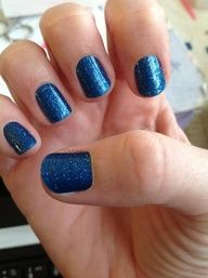 Sapphire Blue Sparkle Jamberry Nail Wraps. Get glittery nails in minutes with our easy-to-apply nail wraps-no flaking, no messy removal, and best of all, no chipping! Find out what everyone's talking about at: www.taraeman.jamberrynails.net