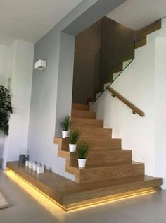 Modern Staircase Design Ideas - Stairways are so common that you do not provide a doubt. Look into best 10 instances of modern staircase that are as spectacular as they are . Home Stairs Design, Interior Design Living Room, House Design, Stair Design, Loft Design, Room Interior, Hall Design, Interior Livingroom, Design Interiors