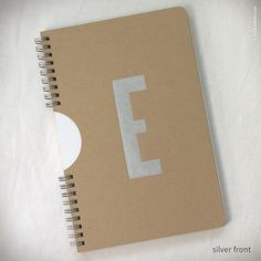 Monogram Spiral Notebook with Kraft Cover {#450}