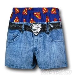 Superman britches...C'mon man! Really?  I suppose if you want your kid to dress like a jailed criminal - This trend started in prisons. No belts allowed!