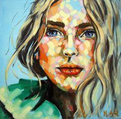 "Saatchi Art Artist Magdalena Ana Rosso; Painting, ""Green Coat (Original Sold)"" #art"