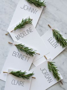 rosemary place card
