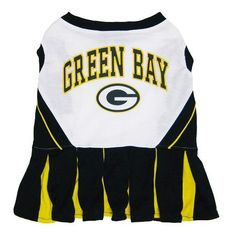Green Bay PACKERS NFL dog Cheerleader Dress