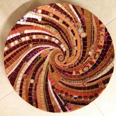 Mosaic handmade glass bamboo plate