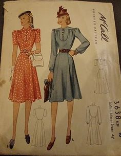 McCall 3638: Ladies' and misses' dress