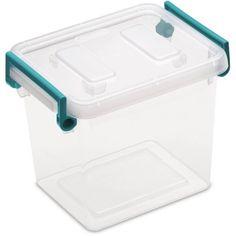 Sterilite 2.5 qt Modular Latch Box- Teal Sachet (Availabe in Case of 6 or Single Unit) - Walmart.com