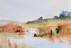 looking for colour at the pond oil on board 30 x 23 cms £60.JPG