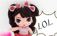 Lol, Crochet Dolls, Minnie Mouse, Barbie, Disney Characters, Amigurumi, Daffy Duck, Barbie Dolls, Crochet Doilies