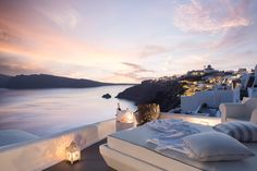 Amazing sunset views from the Kirini Suites & Spa in Santorini, Greece