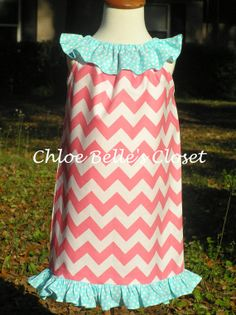 Ruffle Neck Dress with Monogram by juliesonny on Etsy, $30.00