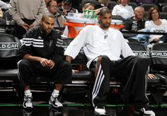 Tony Parker and Tim Duncan San Antonio Spurs, World Of Sports, Nba Basketball, Husband, Athletes, Meet, Game, Big, Gaming