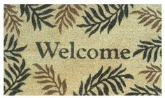 """Fern Welcome 17""""x29"""" Coir with Vinyl Backing by Momentum Mats. $19.99. 100% Natural Coir with Vinyl Backing for Long-Lasting Wear and Durability. Traps Dirt and Moisture. Makes a Great Gift - Free Gift Enclosure. In Stock - Ships in 1-2 days. Fade Resistant, Color Fast and Weather Tolerant. Momentum Mats has been a trusted manufacturer for 28 years and we take great pride in the fact that we use only 100% natural coir and vinyl in our doormats.  Our manufacturing facilities have ..."""