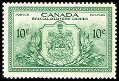 Canada E11 Stamp Arms of Canada Stamp NA C E11-2, $7.45 at Blue Moon Philatelic Stamp Store (http://www.bmastamps2.com/stamps/north-america/canada/canada-e11-stamp-arms-of-canada-stamp-na-c-e11-2/)