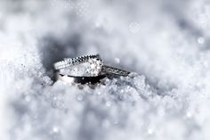 Wedding at The Nottinghamshire. #Weddingideas Snow crystal ring shot