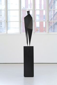 Intriguing sculpture in a dedicated small space.   Xavier Veilhan - David, Faceted (2011)