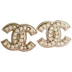 Chanel Blink CC Small Size Clip on Earrings ($420) ❤ liked on Polyvore featuring jewelry, earrings, accessories, chanel, clip earrings, earrings jewelry, clip back earrings, chanel jewelry and chanel jewellery