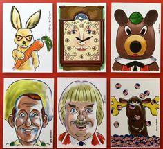 Captain Kangaroo / Six Sketch Card Set by Craig Boldman