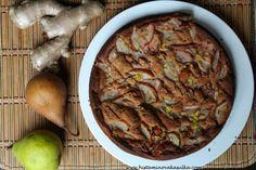 Hruškovo-zázvorový bezlepkový koláč
