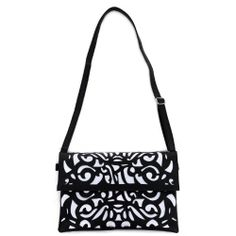 Hde Women S Hollow Messenger Handbag Shoulder Bag Black