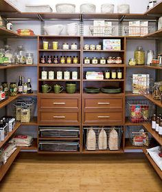 Pantry Organization- Wow, that is super organized and huge!