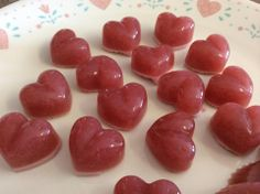 Strawberry gummies, by Charlene Wiebe, from fb.   S, E or FP and eat them all, if you want : ).  2/3 cup strawberries, 1/2 cup tea (I used wild raspberry hibiscus with a splash of lemon juice), 5tbsp gelatin, sweetener to taste. You may need to add some stevia (and a bit of salt to counter the stevia) to achieve desired sweetness. Blend everything well. Bring to boil. Pour into molds and refrigerate till set, about 30 minutes.