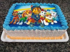 Toy Story Birthday Cake, Birthday Cake Kids Boys, Paw Patrol Birthday Cake, Bolo Do Paw Patrol, Torta Paw Patrol, Baby Boy Cakes, Cakes For Boys, Bolo Mickey Chantilly, Beautiful Birthday Cakes
