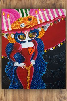 """The Majesty of Finality - 11x14"""" Reproduction Print - Muse inspired by La Muerte Book Of Life - MuseArt"""