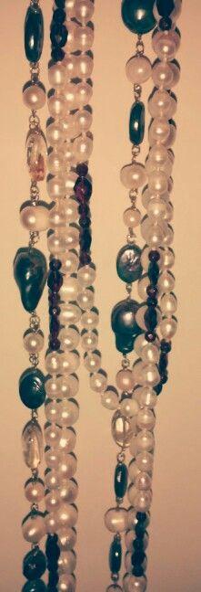 Perlas,topacio,granate