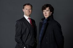 Promo pictures - BBC Sherlock Grey background Season 2 - Mycroft & Sherlock - Benedict Cumberbatch & Mark Gatiss - Updated: picture from sherlocked added - SHQ: Pic 3: (4284x2856) Pic 4: (4903x3677)...