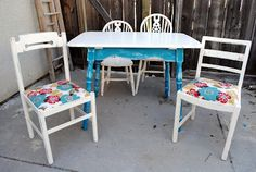 diddle dumpling: Before and After: Wrought Iron Bed and Table & Chairs