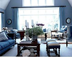 1141e Blue Living Room In High Quality