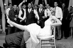 Funniest garter toss photo!