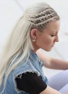 Trip Side Braid- French braid hairstyles