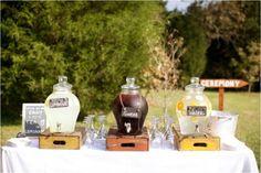Lemonade Drink Station | Hodgin Valley, Heirloom Vintage Farm Wedding | Anna Paschal Photography | Leigh Pearce Weddings, Greensboro North Carolina Wedding Planner, Stylist, Coordinator