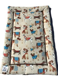 Dog Bed, Dog Crate Pad, Airedale Dogs, Dalmatian Dogs, Dog House Pad, Puppy Bedding, Kennel Dog Pad, Crate Dog Mat, Dog Lovers, Couch Pad by ComfyPetPads on Etsy
