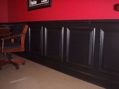 Eye-Opening Useful Tips: Old Wainscoting Ideas painted wainscoting nursery.Wainscoting Island Home. Basement Wainscoting, Wainscoting Height, Black Wainscoting, Wainscoting Nursery, Painted Wainscoting, Dining Room Wainscoting, Wainscoting Panels, Wainscoting Ideas, Basement Stairs