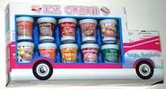 10 Ice Cream Flavored Lip Balms in a Cute Ice Cream Truck Package