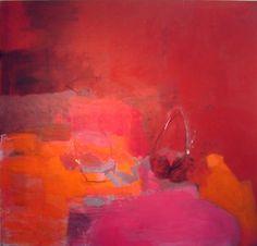 madeline denaro : Paintings : Paintings 2003-2006 abstract art red orange pink