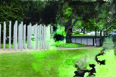Eleanor Cunningham, Curzon Gate 2, 2014, Photography Gate 2, Contemporary Landscape, Sidewalk, Photography Ideas, Artist, Plants, Landscapes, Paisajes, Scenery