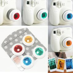 Camara Instantanea - Film Camera Colour Filter Close Up Lens Polaroid for Fujifilm Instax Mini / 8 Instax Mini 8 Camera, Fuji Instax Mini 8, Fujifilm Instax Mini 7s, Polaroid Instax, Polaroid Cameras, Mini Polaroid, Filofax, Instax Mini Ideas, Cute Camera