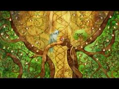 The Secret of Kells - Aisling's Forrest.  This is a clip from one of my all time favorite animated films. The mix of raw animation and immense detail is extraordinary. I love the style.