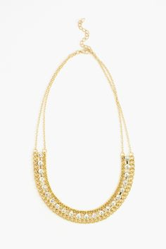 Crystal Link Collar Necklace, from Nasty Gal