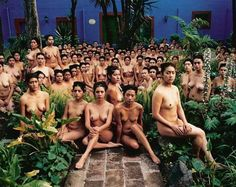 to Pinterest - yes there is nudity here but it is also art - the human body can be considered artistic and beautiful without being considered offensive, pornographic or obscene. Would appreciate if you didn't erase this posting.  It is a photo from the Frida Kahlo Museum. fridas mexico city 9 (museo frida kahlo) spencer tunick2007