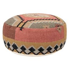online shopping for Aya 26 Handwoven Kilim Round Pouf Ottoman Mistana from top store. See new offer for Aya 26 Handwoven Kilim Round Pouf Ottoman Mistana Leather Pouf, Leather Ottoman, Handmade Ottomans, Small Throws, Square Pouf, Tufted Storage Ottoman, Thing 1, Southwestern Decorating, Round Ottoman