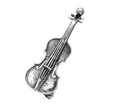 Sterling Silver Violin Pin >>> Visit the image link more details.