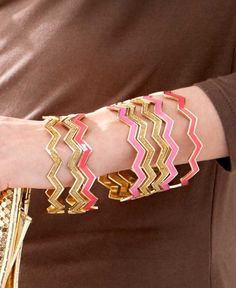 Sets of 4 Chevron Bangle Bracelets|LTD Commodities