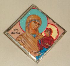 Items similar to St Anna Pendant Mother of Mary on Etsy Saints, Anna, Mary, Princess Zelda, Pendant, Handmade Gifts, Fictional Characters, Vintage, Kid Craft Gifts