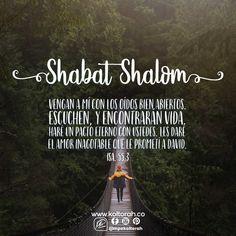 «Vengan a mí con los oídos bien abiertos. Escuchen, y encontrarán vida. Haré un pacto eterno con ustedes. Les daré el amor inagotable que le prometí a David»*. (Isa. 55:3)  Que el Santo y Bendito haga sensible tus oídos y tu corazón para que puedas recibir la vida que Él tiene para ti y veas su bondad incondicional siempre. Que tu alma se deleite en Su Presencia.  ¡Shabat Shalom! 👂🏼💓🕯🕯🥖🥖🍾🍷